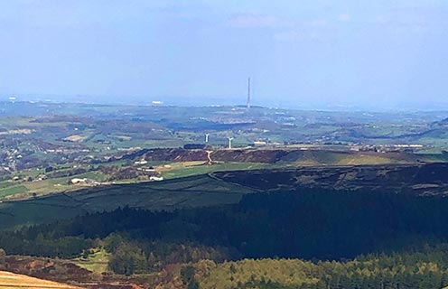 Holme Valley with Emley mast